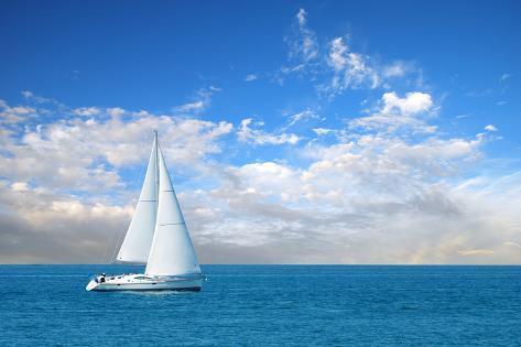 Modern Sail Boat Photographic Print