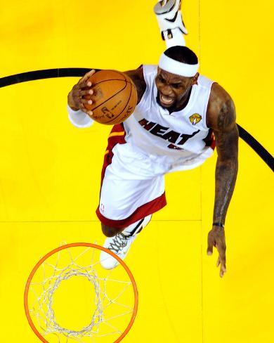 Miami, FL - June 21:  Miami Heat and Oklahoma City Thunder Game Five, LeBron James Photo