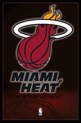 Miami Heat NBA Team Logo Poster