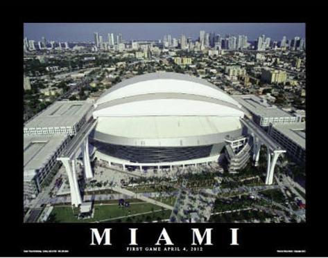 Miami Marlins Park Sports Art Print