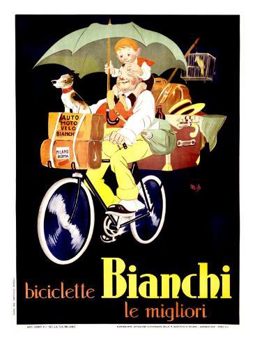 Bianchi Biciclette Giclee Print