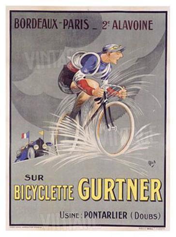 Bicyclette Gurtner Giclee Print