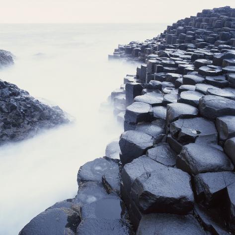 Basalt Columns on Coast Photographic Print