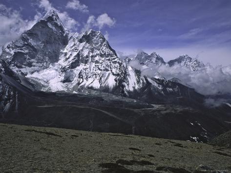 Ama Dablam Landscape, Nepal Photographic Print