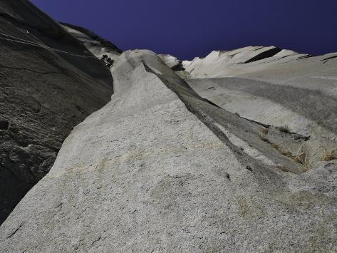 Climbing the Muir Wall at El Capitan, Yosemite National Park Photographic Print