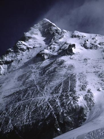 Mt. Everest from South with Dark Blue Sky, Nepal Photographic Print