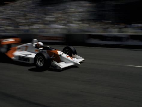 Race Car Driving, USA Photographic Print