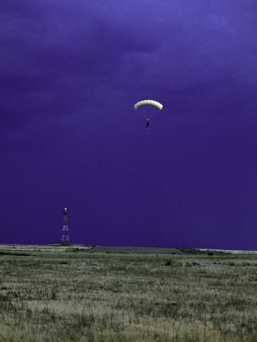 Skydiver Landing, USA Photographic Print