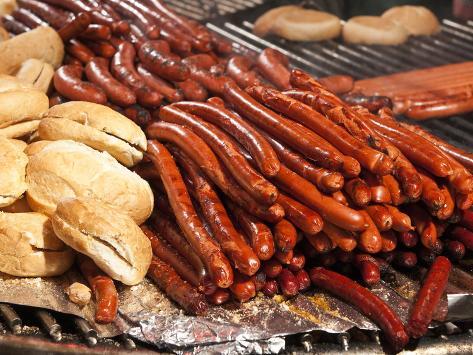 Barbequed Meats at the Stuttgart Beer Festival, Cannstatter Wasen, Stuttgart, Baden-Wurttemberg, Ge Photographic Print