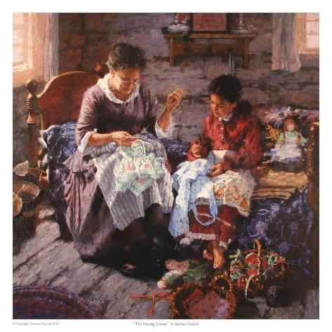 The Sewing Lesson Art Print