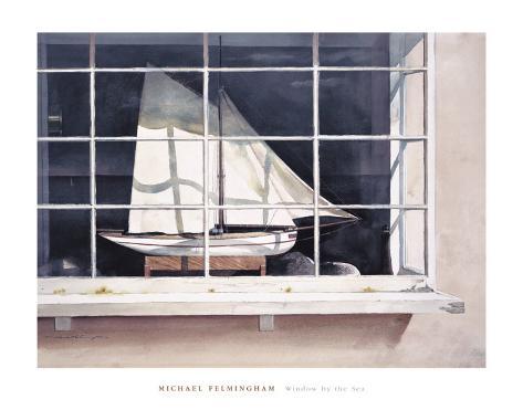 Window by the Sea Art Print