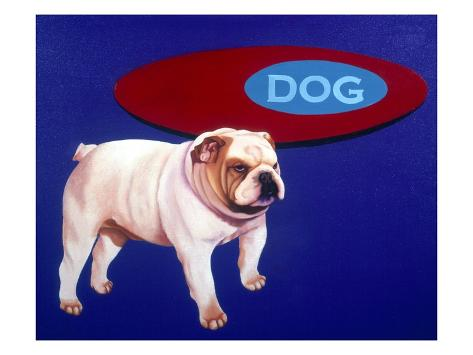 Bulldog Stretched Canvas Print