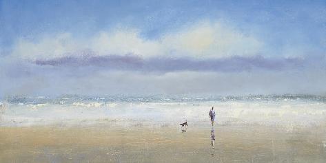 Beachside Stroll Art Print