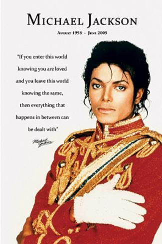 Michael Jackson Loved Quote Mini Poster