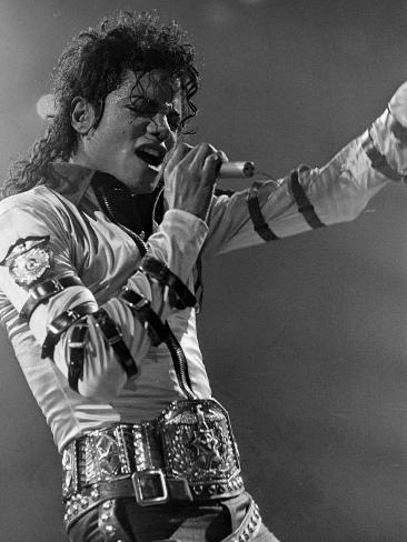 Michael Jackson Performing Premium Photographic Print