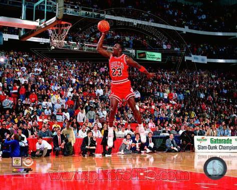 Michael Jordan 1988 NBA Slam Dunk Contest Action Photo