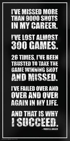 Michael Jordan- Success Quote Poster