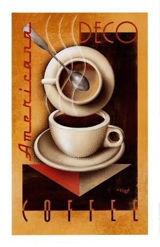 Americana Deco Coffee Art Print