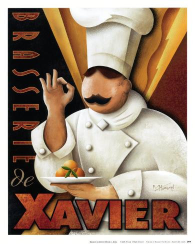Brasserie de Xavier Art Print