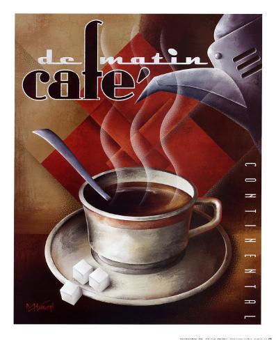 Cafe de Matin Art Print