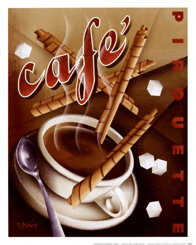 Cafe Pirouette Art Print