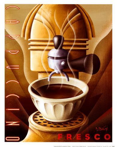 Cappuccino Fresco Art Print
