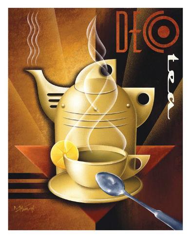 Deco Tea Art Print