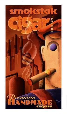 Smokstak Cigar Faktori Art Print