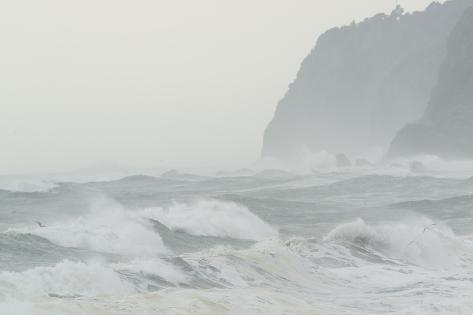 Storm Tossed Waters of Bruce Bay in Westland National Park Photographic Print