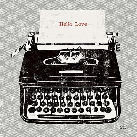 Vintage Analog Typewriter Art Print