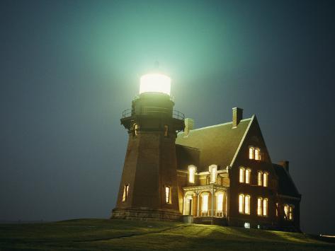 Lighthouse on Block Island Photographic Print