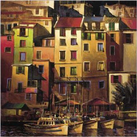 Mediterranean Gold Stretched Canvas Print