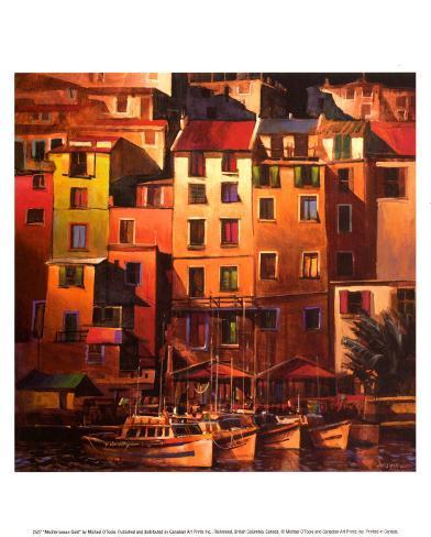 Mediterranean Gold Art Print
