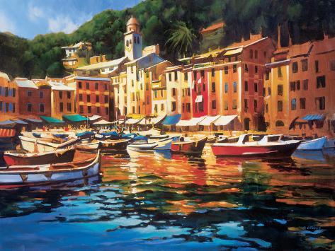 Portofino Colors Art Print