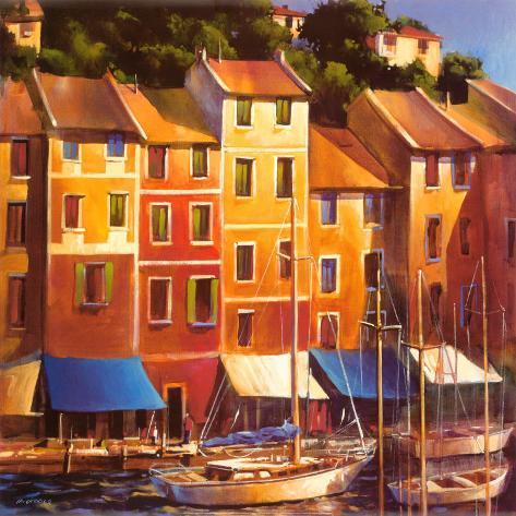 Portofino Waterfront Art Print