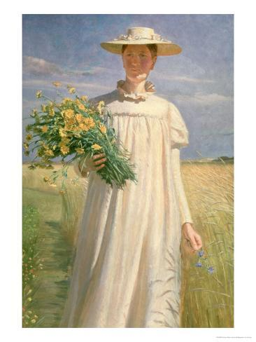 Anna Ancher Returning from Flower Picking, 1902 Giclee Print