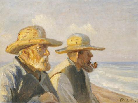 Two Skagen Fishermen, 1907 Giclee Print