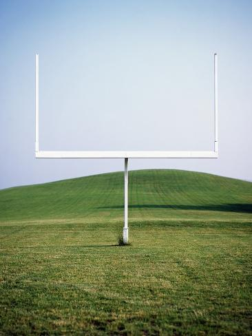 Goal Post in Field Photographic Print