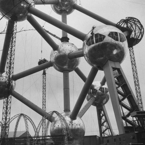 Atomium, Symbol of Brussels World's Fair Photographic Print
