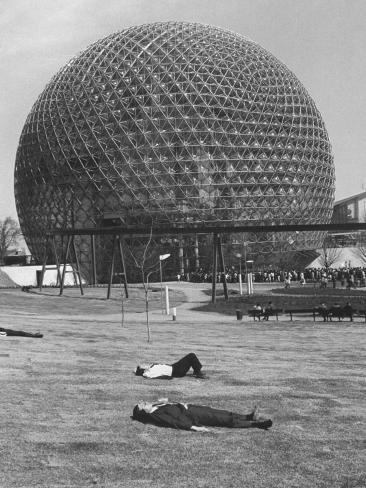 Buckminster Fuller's Geodesic Dome for Us Pavilion at Expo 67 Photographic Print