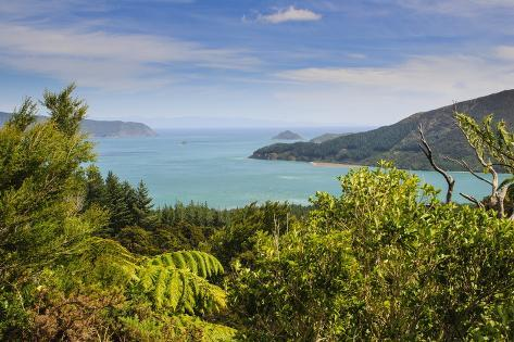 View Over The Marlborough Sounds South Island New Zealand Pacific