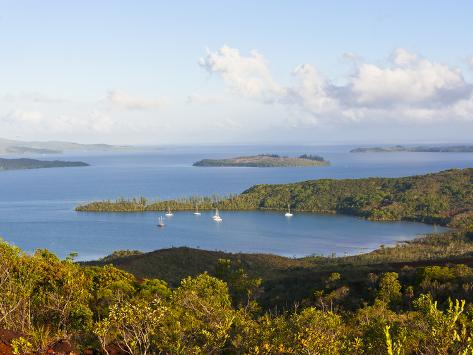 View over the South Coast of Grande Terre, New Caledonia, Melanesia, South Pacific, Pacific Photographic Print