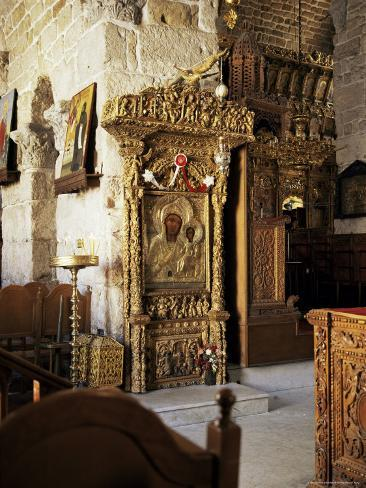 One of Many Icons in the Church of St. Lazarus, Larnaca, Cyprus Photographic Print