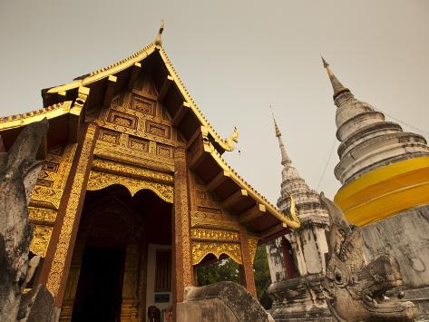 Wat Phra Singh, Chiang Mai, Chiang Mai Province, Thailand, Southeast Asia, Asia Photographic Print