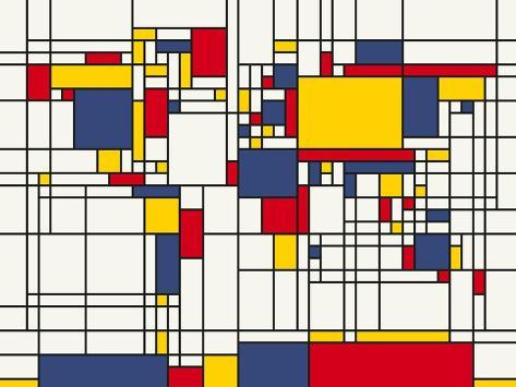 Mondrian abstract world map posters by michael tompsett at mondrian abstract world map gumiabroncs Image collections