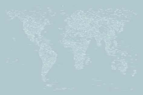 World map of cities poster by michael tompsett at allposters world map of cities gumiabroncs Image collections