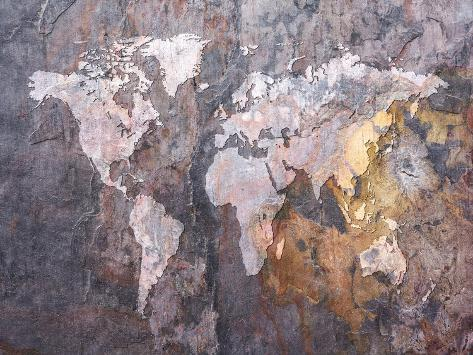 World map on stone background posters by michael tompsett at world map on stone background gumiabroncs Image collections