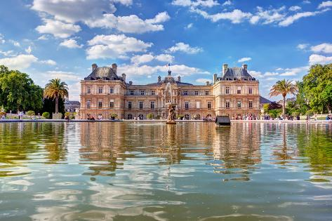 The Luxembourg Palace in the Jardin Du Luxembourg or Luxembourg Gardens in Paris, France. View on T Photographic Print