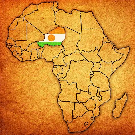 Niger On Actual Map Of Africa Prints By Michal812 Allposters Ca