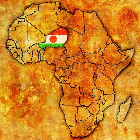 Map Of Africa Art.Niger On Actual Map Of Africa Prints By Michal812 Allposters Ca